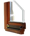 68mm széles profil 4-16-4mm k=1,1 üveg