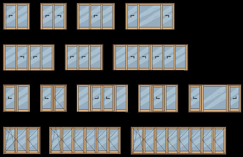 Toló-Bukó, Emelő-Toló, Harmónika erkély ajtók